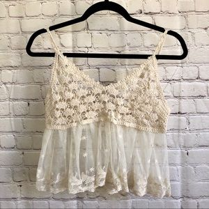 Crochet/lace cropped top